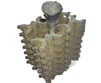 Castings clutch with gating system made by shell method